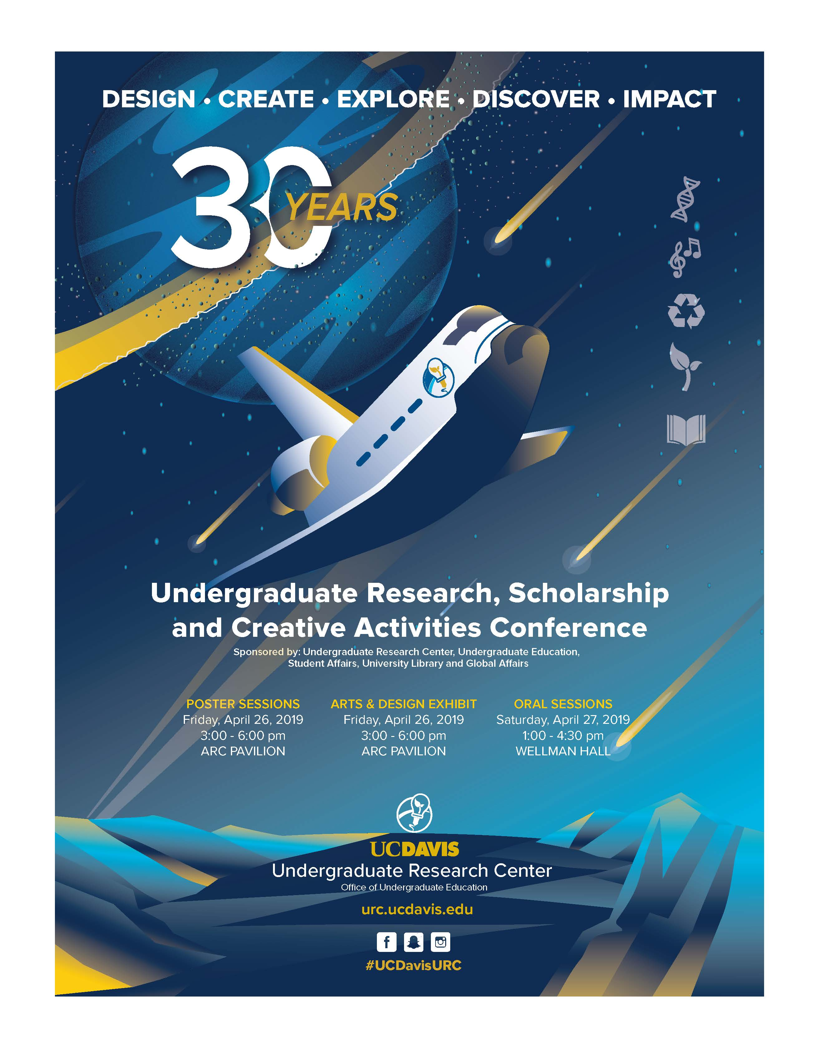 Cover of URC 30th Undergraduate Research Conference Program and Abstract book.